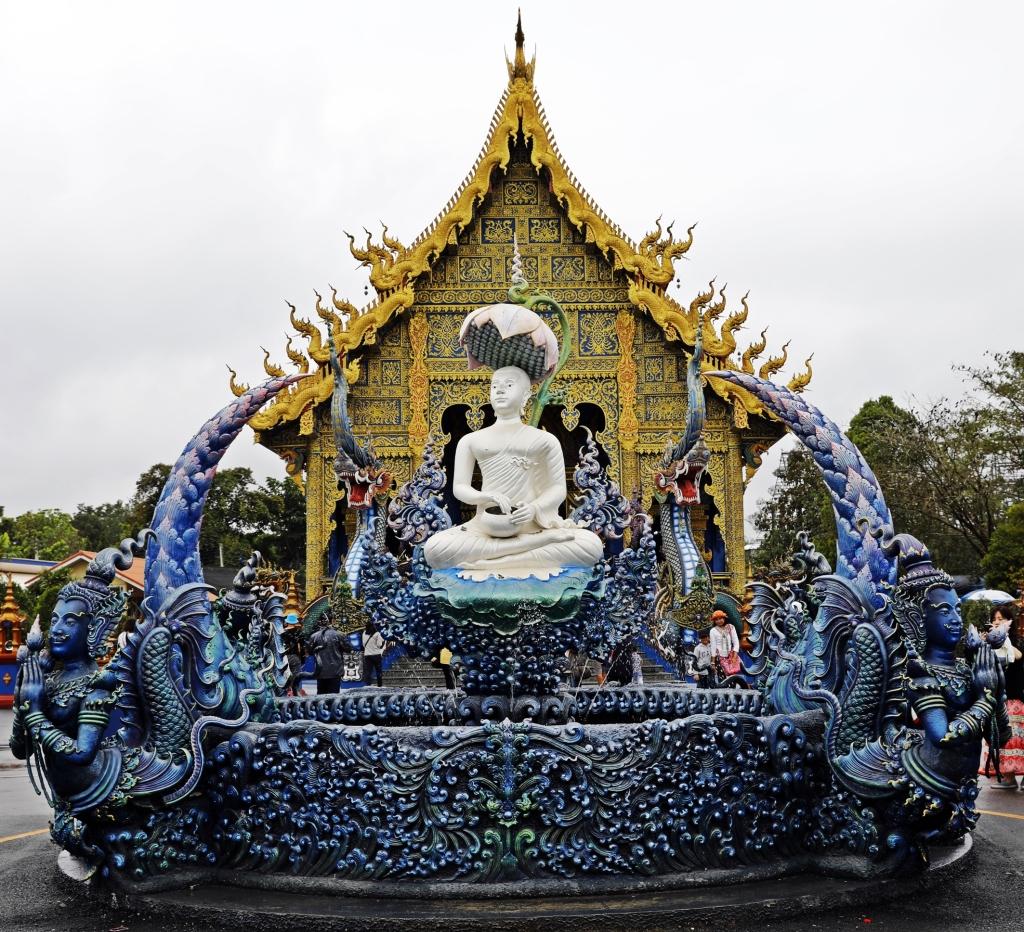 Fountain at Blue Temple, Chiang Rai