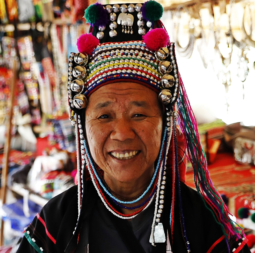 Lahu Hilltribe Lady, Northern Thailand