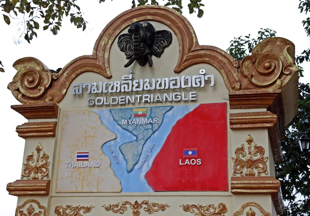 The Golden Triangle from Mae Sai, Thailand
