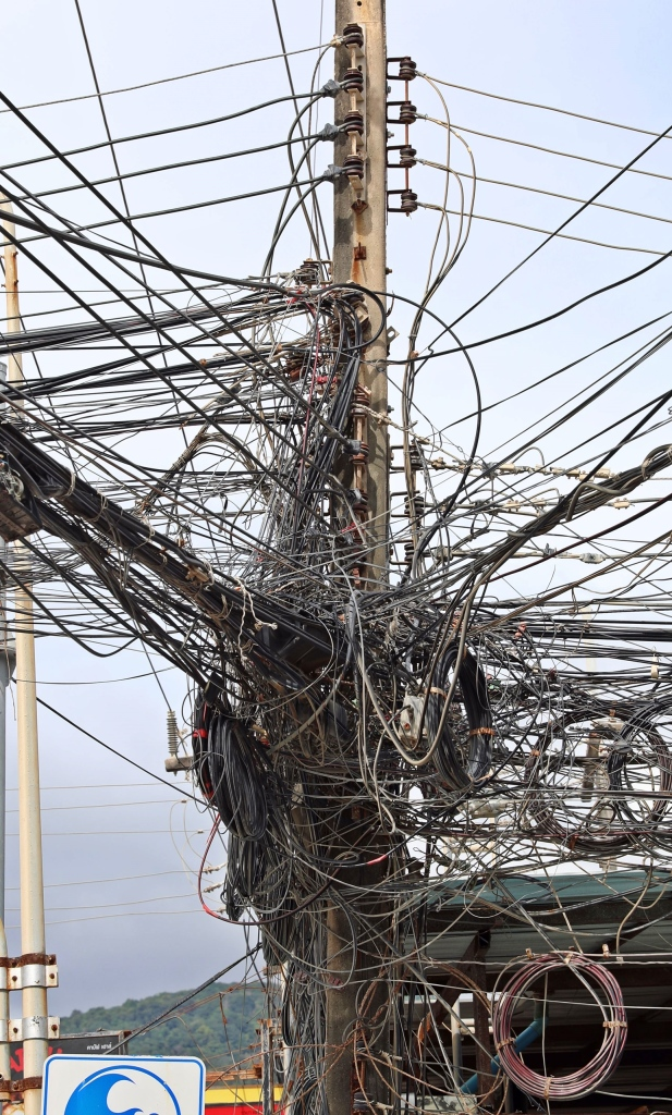 Typical Thai electrical wiring