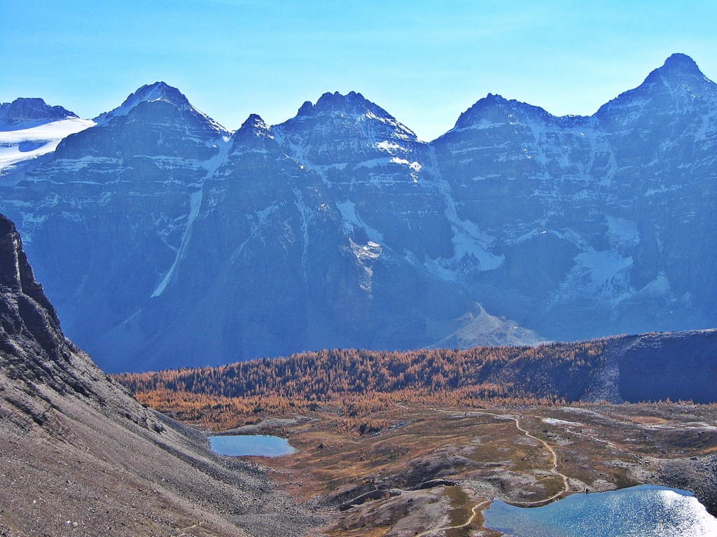 View from above Sentinel Pass, Banff National Park