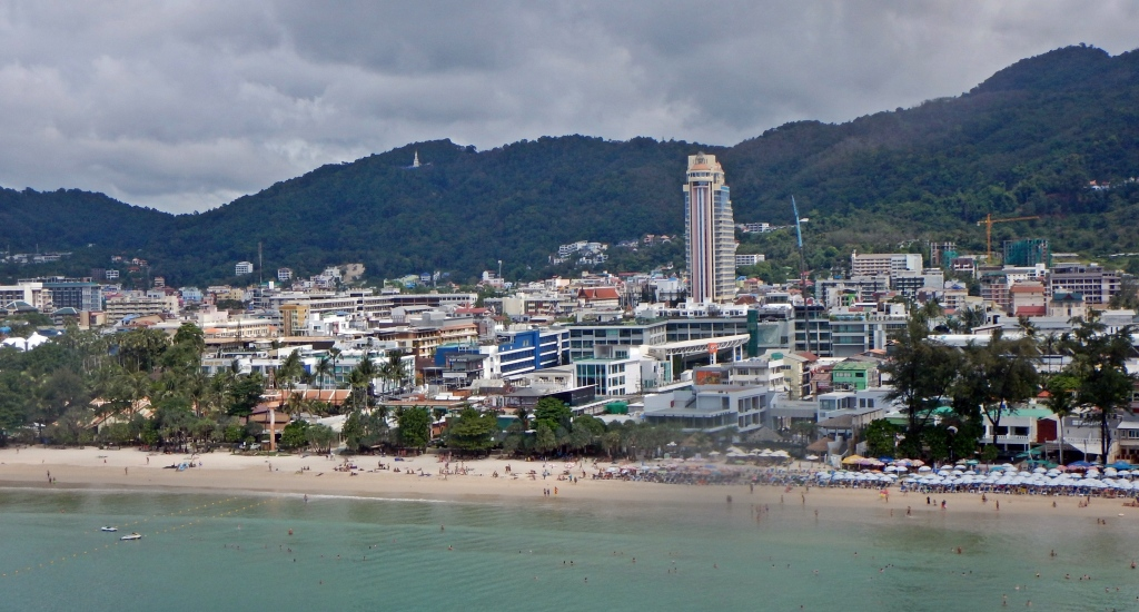 View of Patong Beach from the parasail