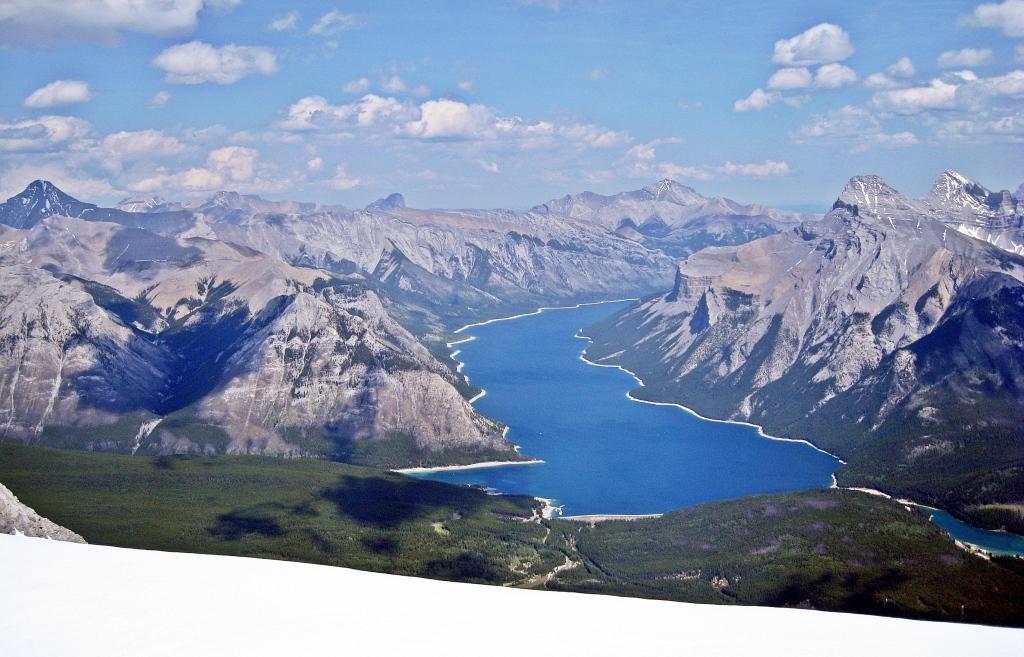 Lake Minnewanka from Cascade Mountiain, Banff National Park