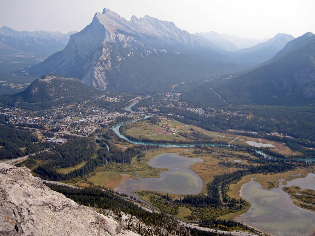 Vermillion Lakes and Mt. Rundle from Cory Pass Trail, Banff Natonal Park