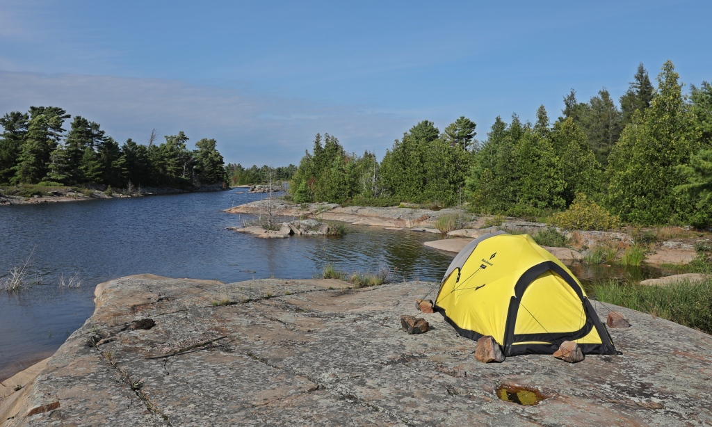 Camping, Georgian Bay, Ontario