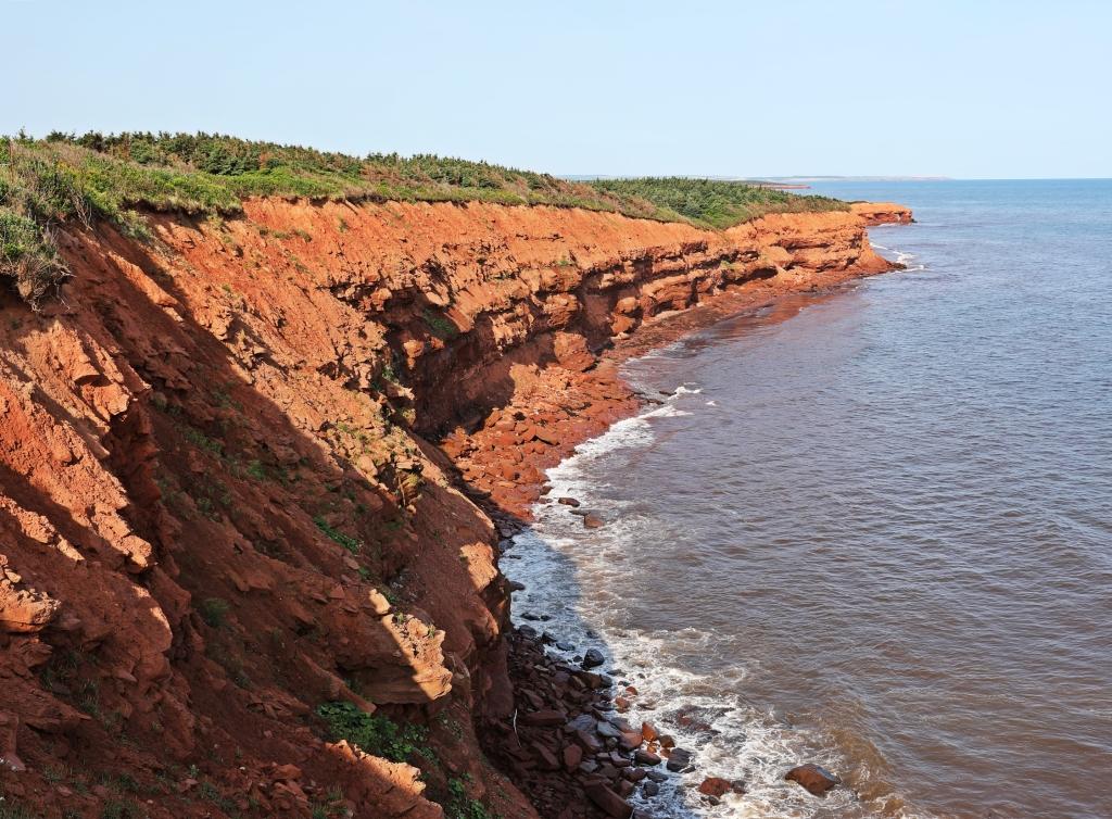 Red cliffs, PEI