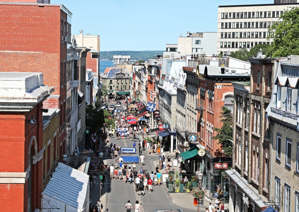 View from above St. John's Gate, Old Québec